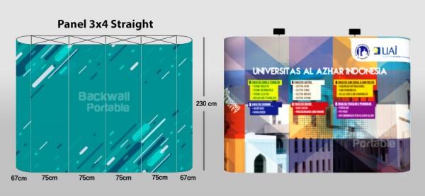 Panduan Design Backwall 3x4 Straight